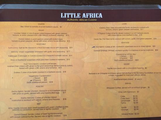 Little Africa: Great value menu
