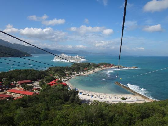 view from the top of the dragons breath zip line
