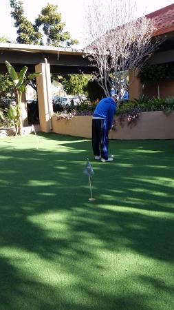 Palm Garden Hotel: Putting on the 6-hole course