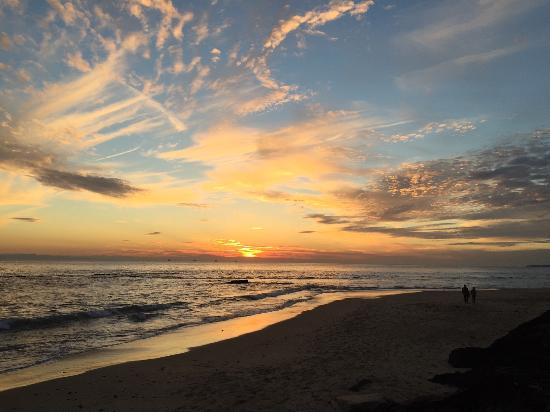 View from Carpinteria State Beach Campground, site M456