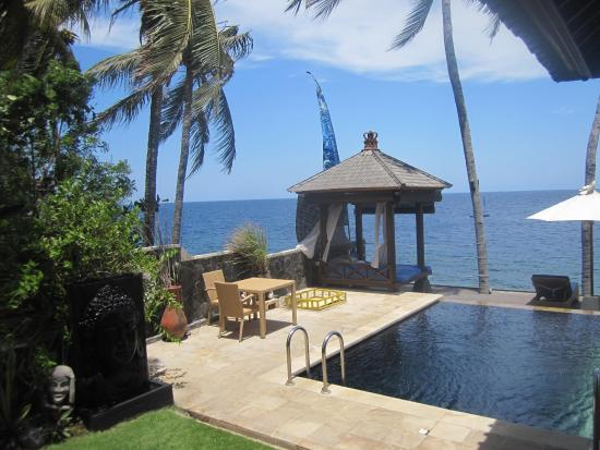 Villa Alba Dive Resort: Gazebo & pool view