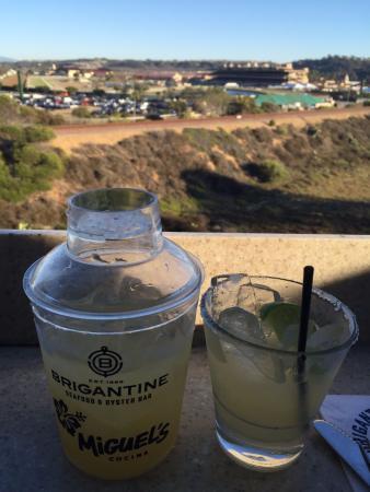 Brigantine Seafood Restaurant : Margarita's with a view.