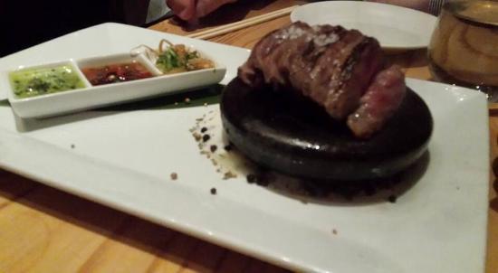 Nobu: Hot stone wagyu beef