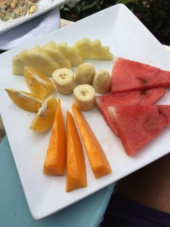 The SPA Retreat Boutique Hotel: Fresh fruit
