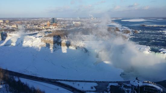 Oakes Hotel Overlooking the Falls: View of American Falls from Oakes Hotel, Niagara Falls, Ontario