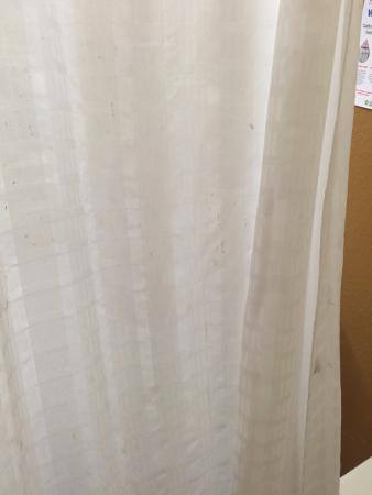 Extended Stay America - Los Angeles - Burbank Airport: stained shower curtain