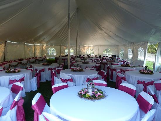 Summit Mountain Lodge: Wedding setup