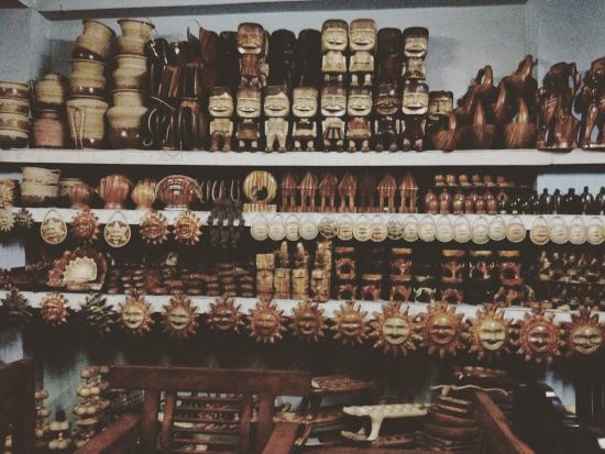 Ifugao Woodcarvers' Village: carved products