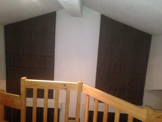 Chalet Hotel Dahu : windows permanently covered by blinds you couldnt open