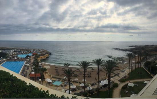 Moevenpick Hotel Beirut: The only nice thing about this hotel was this breathtaking view.