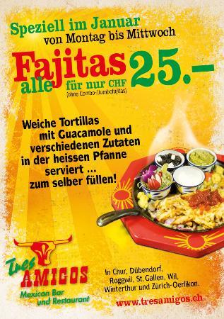 Wil, Suiza: Fajita Aktion Januar 2016