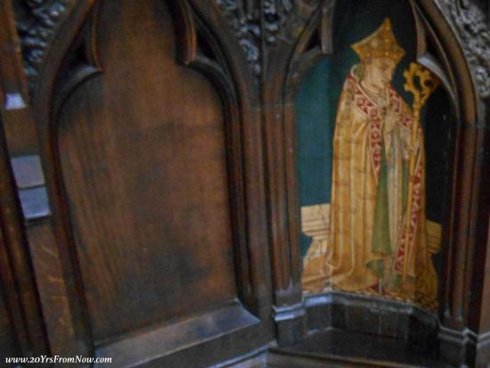 Exeter Cathedral: Detail of cathedra