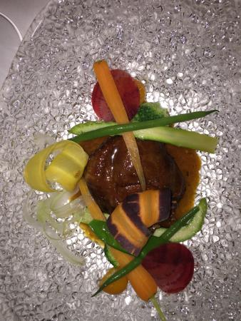 Trafalgar, Sudáfrica: From the Kitchen:Fresh Foie Gras on a red wine reduction