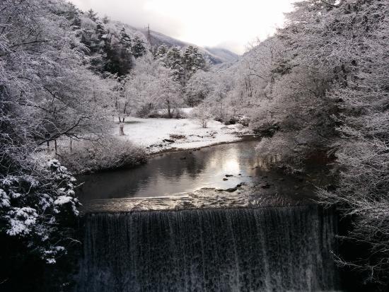 Azumino, Nhật Bản: つり橋からの眺め