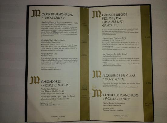 Augusta Spa Resort: carta mimos