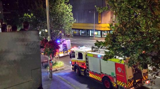 Hotel ibis budget Sydney East: Good thing the fire station is on the same block.