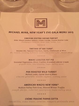 Bellagio Las Vegas Michael Mina New Year S Eve Menu