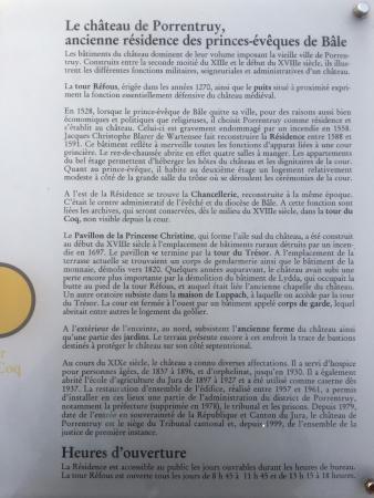 Porrentruy, สวิตเซอร์แลนด์: Description of the castle (in French)