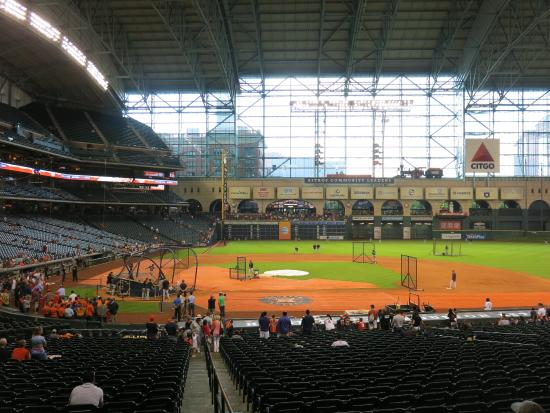 View To Left Field Roof Closed Picture Of Minute Maid