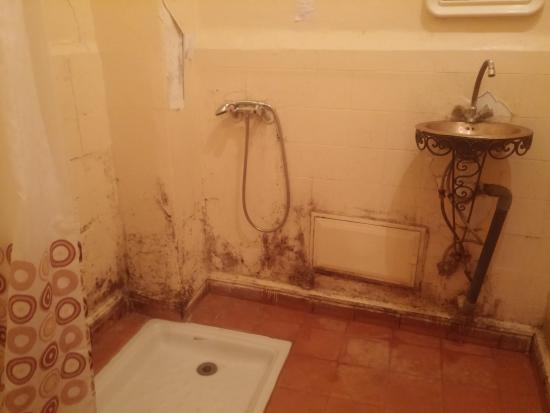 Riad Espagne : Baño de la habitación con dos camas