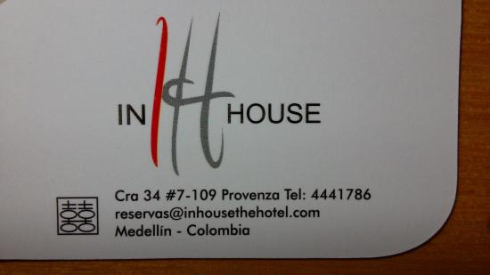 In House: Biz card
