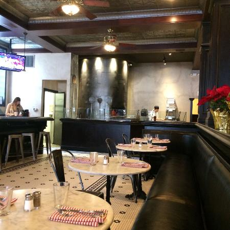 Iowa City, IA : Side seating and pizza oven