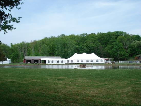 New World Home Cooking: Kaaterskill venue with tent used by New World catering