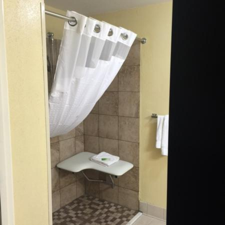 Hinesville, Gürcistan: Enjoy our Accessible Roll In Shower Room