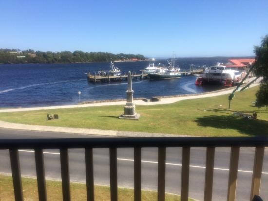 Strahan Village: View from Executive king suite