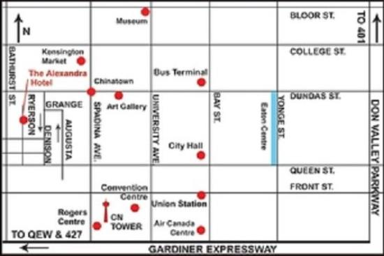 Alexandra Hotel: Map