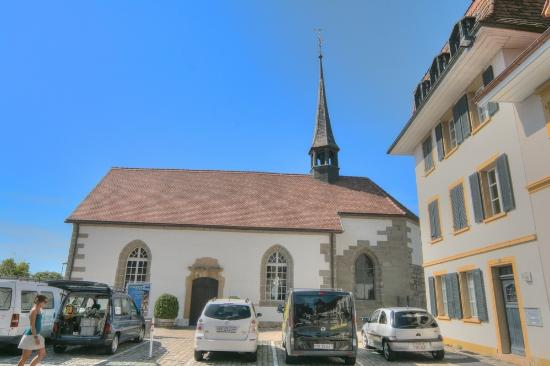 Murten, Swiss: The outside of the French Church
