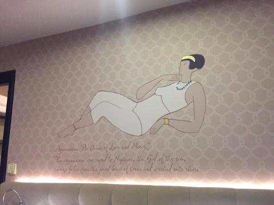Design Hotel Jewel Prague: Picture above the bed