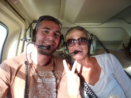 Caribbean Helicopters: On the helicoeter in Antigua