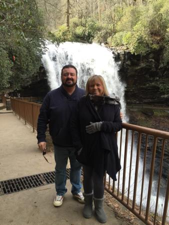 Dry Falls: My wife and I at the Falls