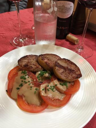 Au Petit Sud Ouest : Duck neck stuffed with Foie gras