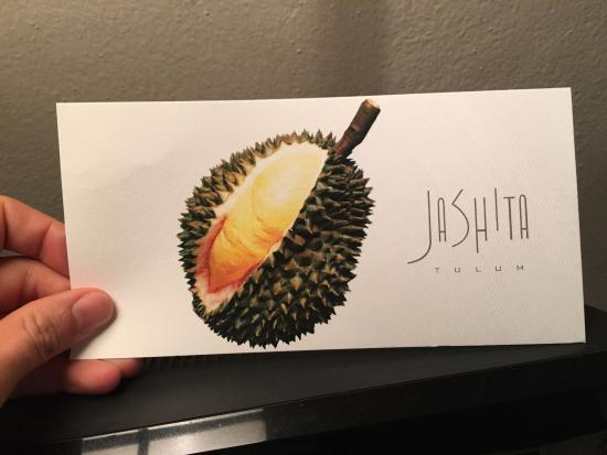 Hotel Jashita: This kinda sums up the hotel:  Exotic branding with a non-local fruit that's known for it's odor