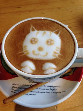 Langzhong, Cina: Cat coffee