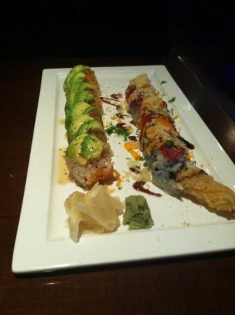 Left is Autumn of Alaska roll and right is Playboy roll