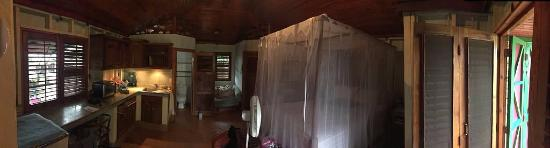 Corn Islands, Nicaragua: A panorama view inside the treehouse studio