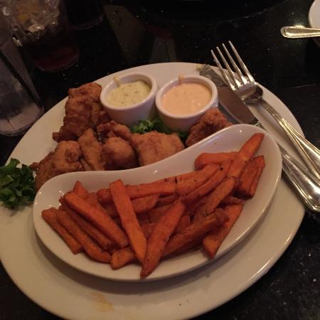 Monterey Grill : Fried fish with sweet potatoes