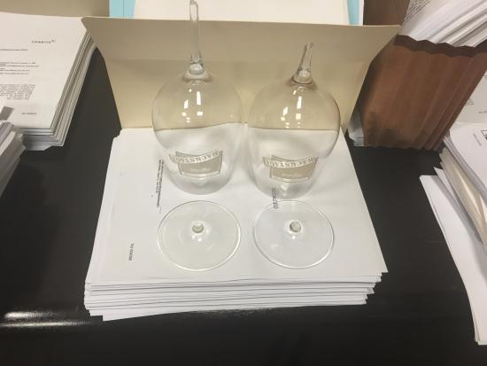 Bardessono: Broken Wine glasses shipped by hotel :-(