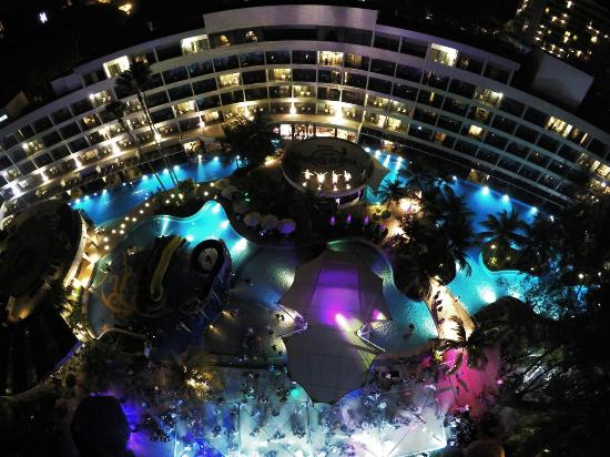 Aerial View - Swimming Pool (Night Shot) - Picture of Hard ...