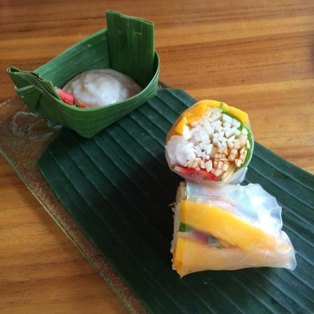 Ubud Sari Health Resort: Spring Rolls with a twist!