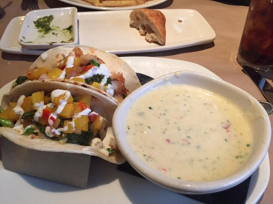 Bonefish Grill - Richland: Fish tacos with chowder soup - very good!
