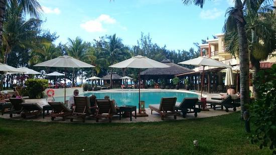 Tarisa Resort & Spa: Piscine vue de la terrasse de la chambre