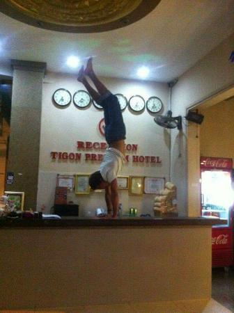 Acrobatics in tigon hostel!