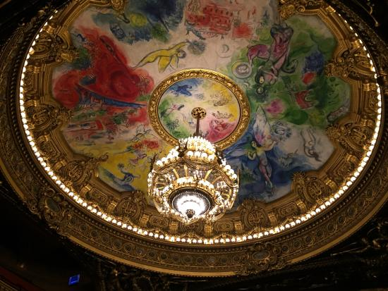 Paris, France: ceiling by Marc Chagall