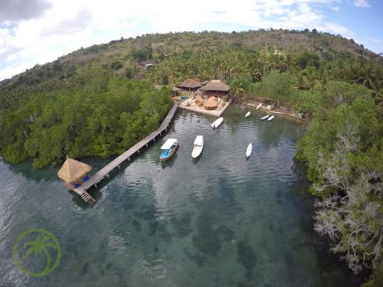 Ceningan Divers: Drone view of our Dive resort