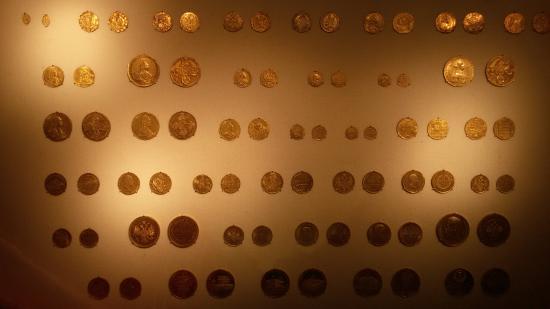 State Historical Museum : Коллекция золотых монет, выпущенных в России