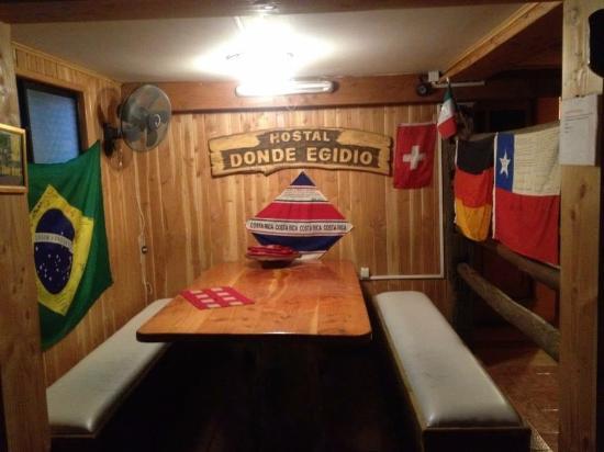 Hostal Donde Egidio : Mini restaurante para os hóspedes